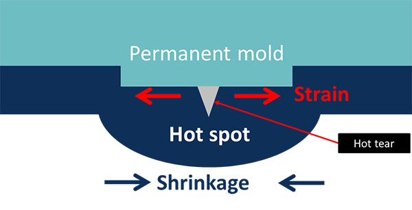 Fig. 1: Main effects on the formation of hot tears